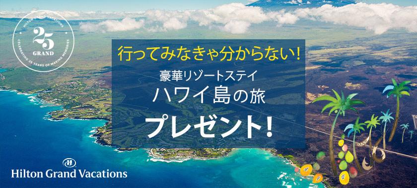 行ってみなきゃ分からない!豪華リゾートステイ ハワイ島の旅プレゼント![TOP]