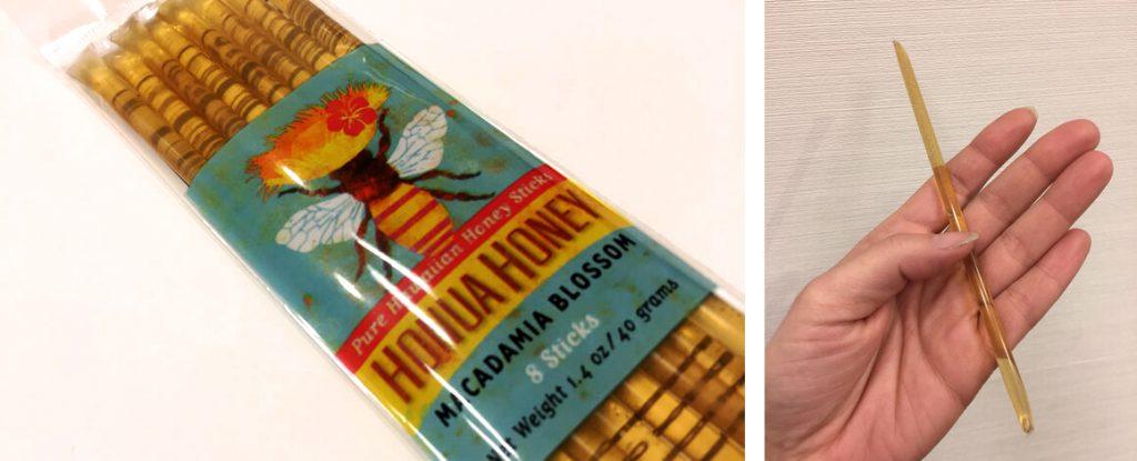 珍しいスティックタイプのハチミツ <br /> HONUA HONEY ハニー・マカデミア・ブロッサム $3.29