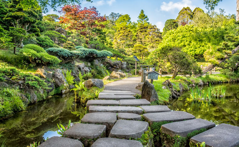 ゴールデンゲートパーク内の日本庭園