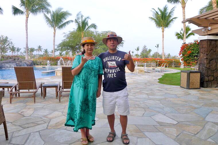フラ最大の祭典、メリーモナークに合わせて訪れたハワイ島でのワンシーン。<br /> この時は、クラブメンバー様から寄せられる口コミでも好評な、キングス・ランド・バイ・ヒルトン・グランド・バケーションズ・クラブにご滞在。