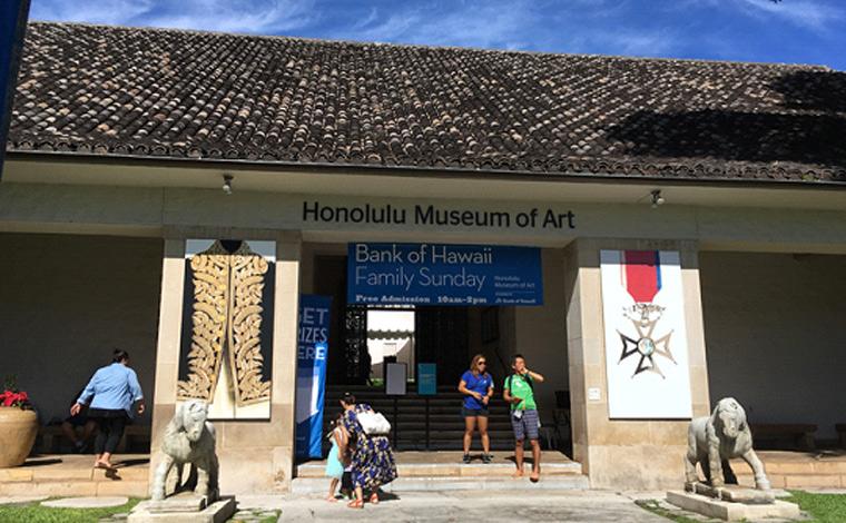 ワイキキの中心部から車で約20分とアクセスの良さも魅力のホノルル美術館。