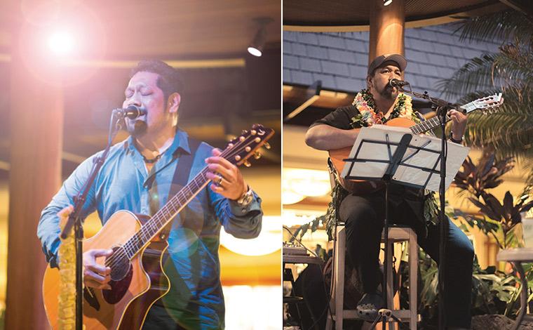 左から、ネイサン・アヴェアウ、カヴィカ・カヒアポ<br /> 写真提供:Kani Ka Pila Grille