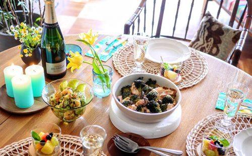 自宅で旅気分!プロ料理家直伝のリゾート風テーブルコーデ術