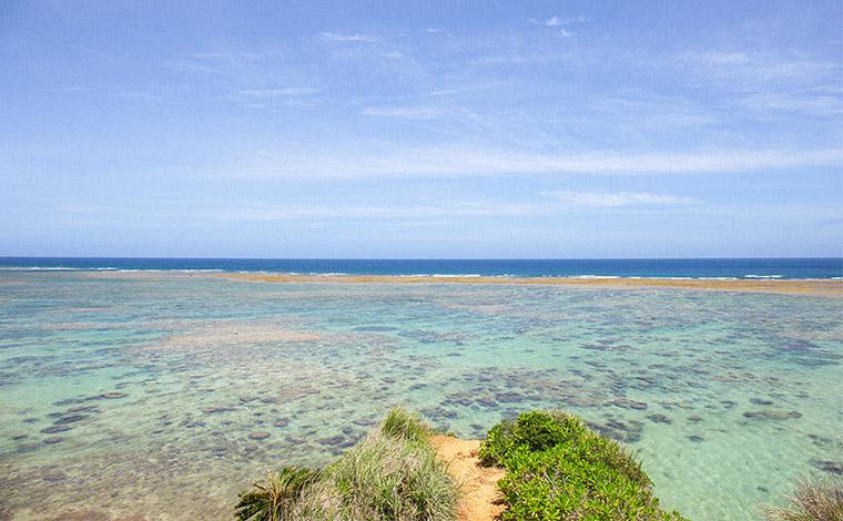 「フォトジェニック」スポットとしても人気のザネー浜。