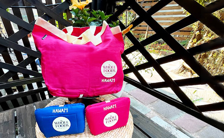 Whole Foods Market Takeout Tote (Red, Blue, 11.8